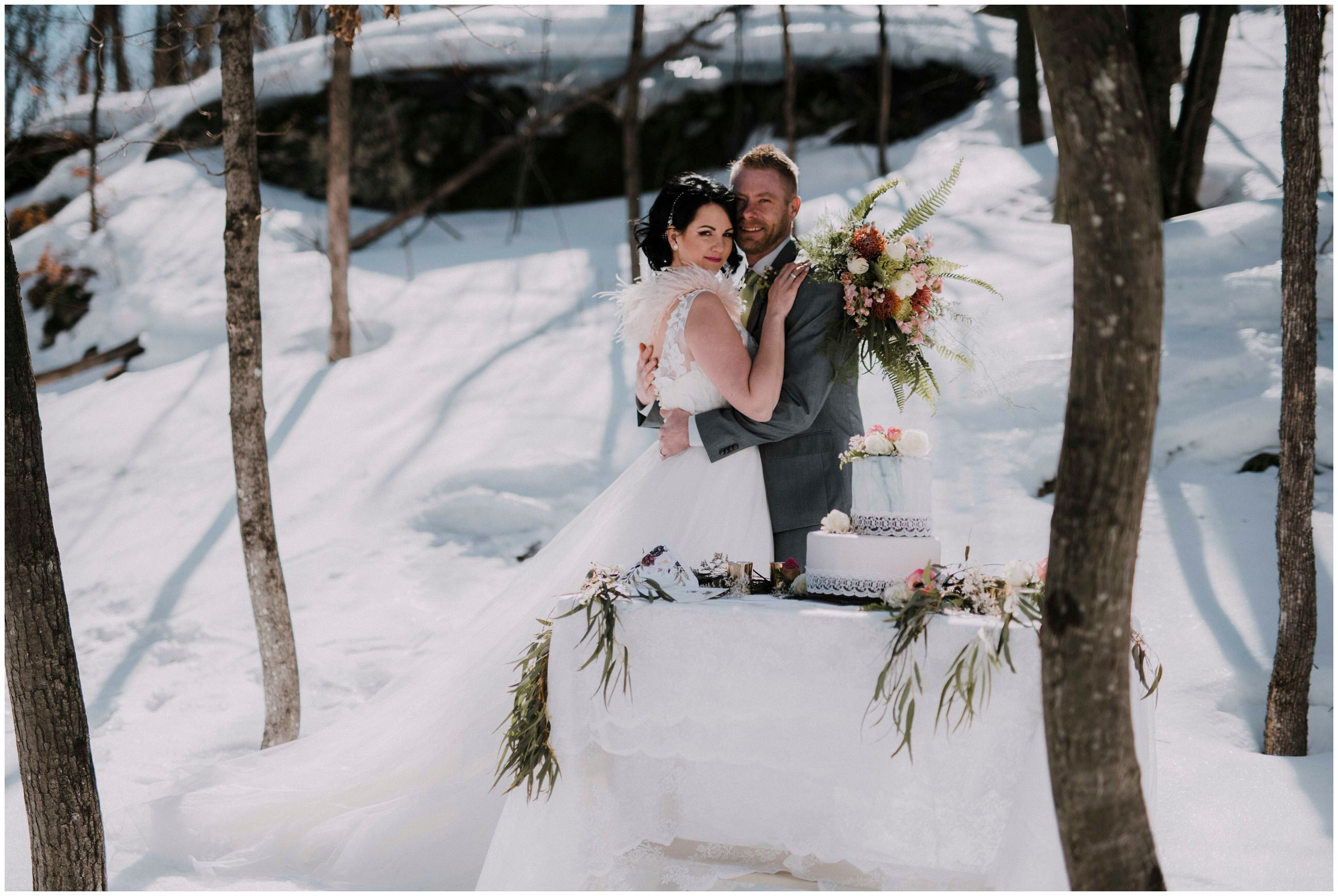Winter Wedding Inspiration - Elements Luxury Tented Camping - Cindy ...