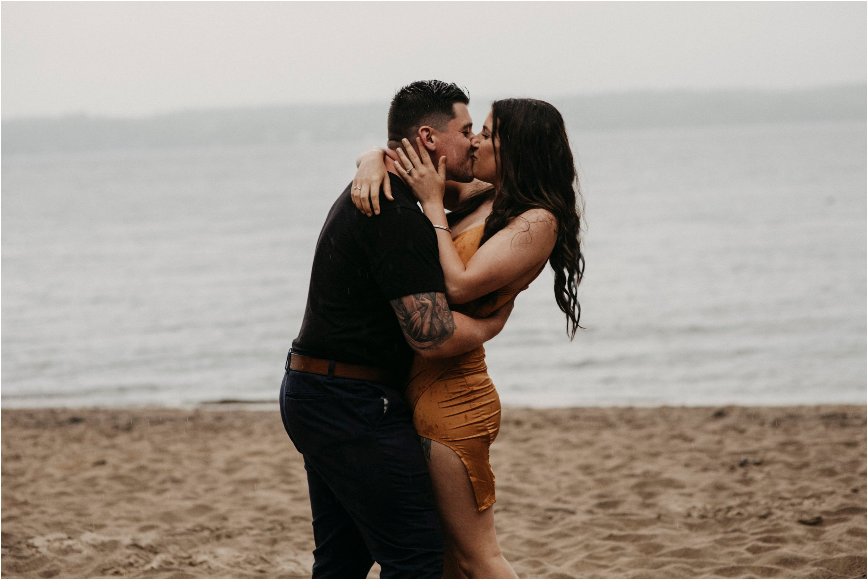 Steamy Rainy Day Engagement Session - Intimate Weddings Ottawa
