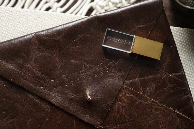 Dekora Leather Print Envelope