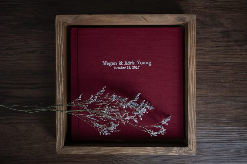 Heirloom wedding albums by Cindy Lottes Photography