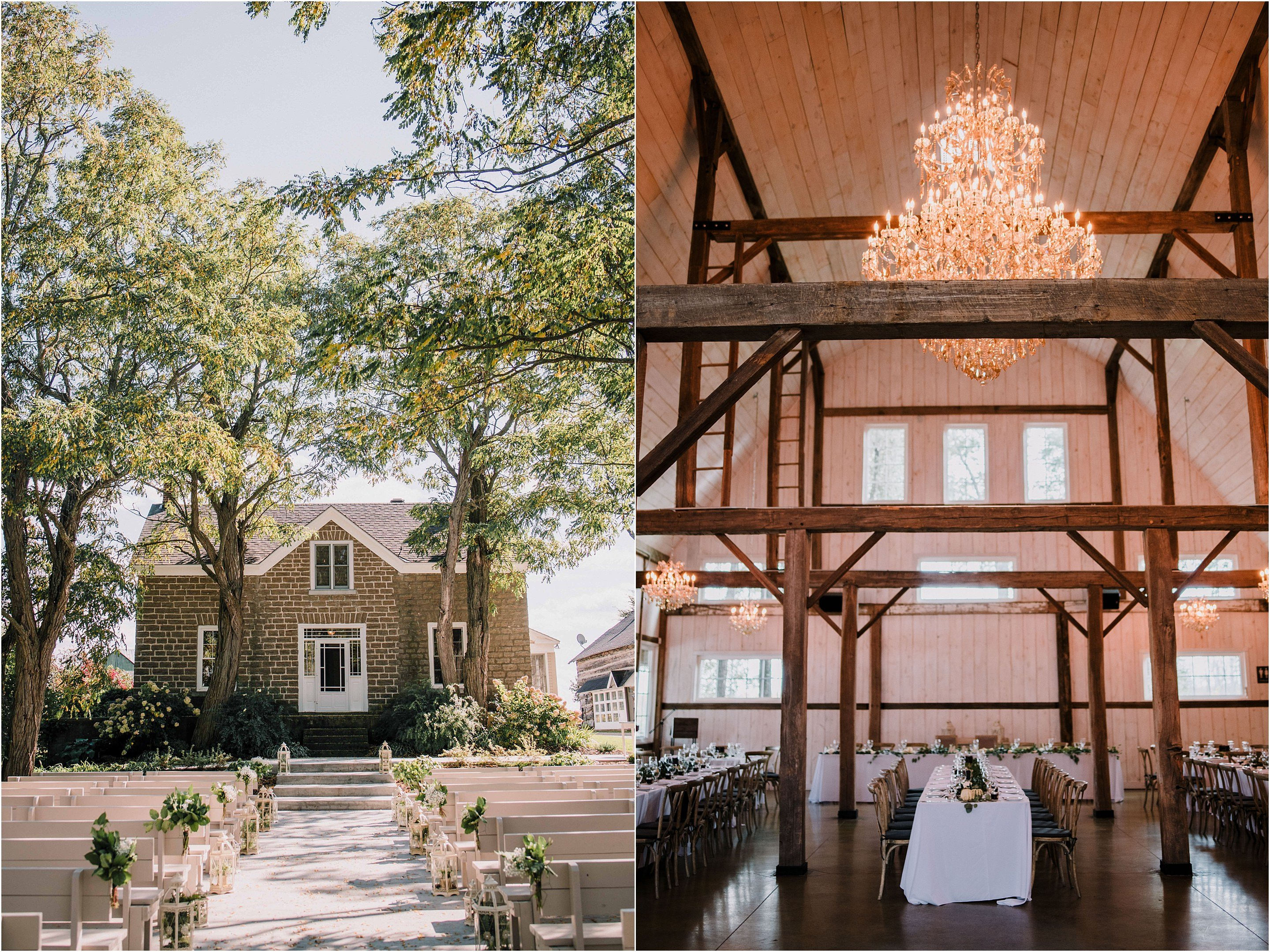 Stonefields is the perfect venue close to Ottawa for romantic wedding ceremonies. Photo by Cindy Lottes Photography