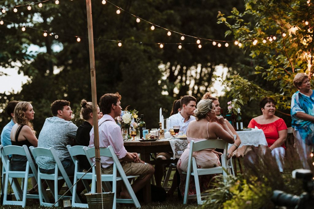 Picnic Table Seating Pontiac Cottage Wedding