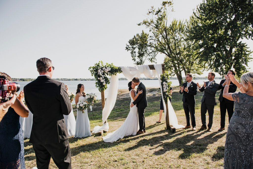 Ottawa Valley Wedding - First kiss as bride and groom
