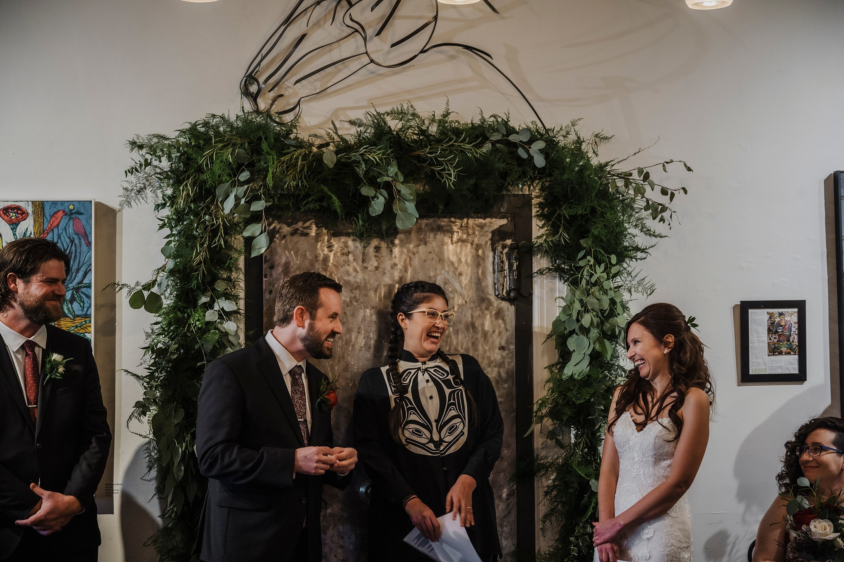 Orange Art Gallery Wedding