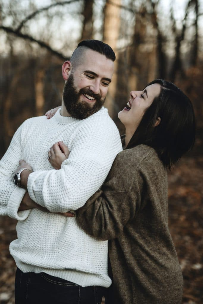 Ottawa Valley Backyard Engagement by Cindy Lottes Photography
