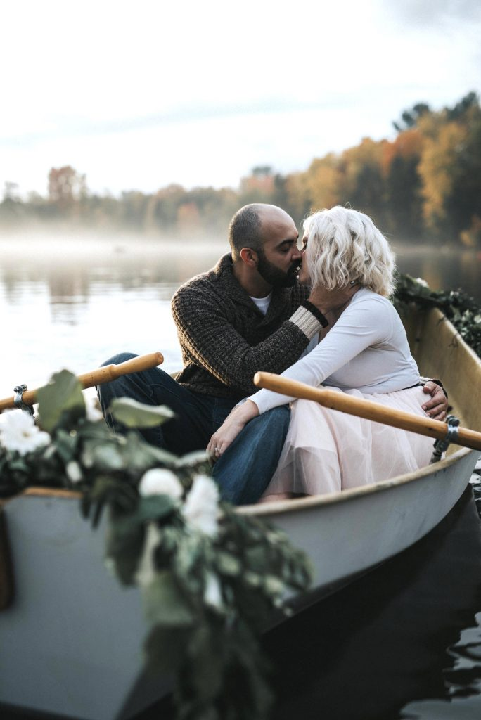 Romantic Rowboat Engagement by Cindy Lottes Photography