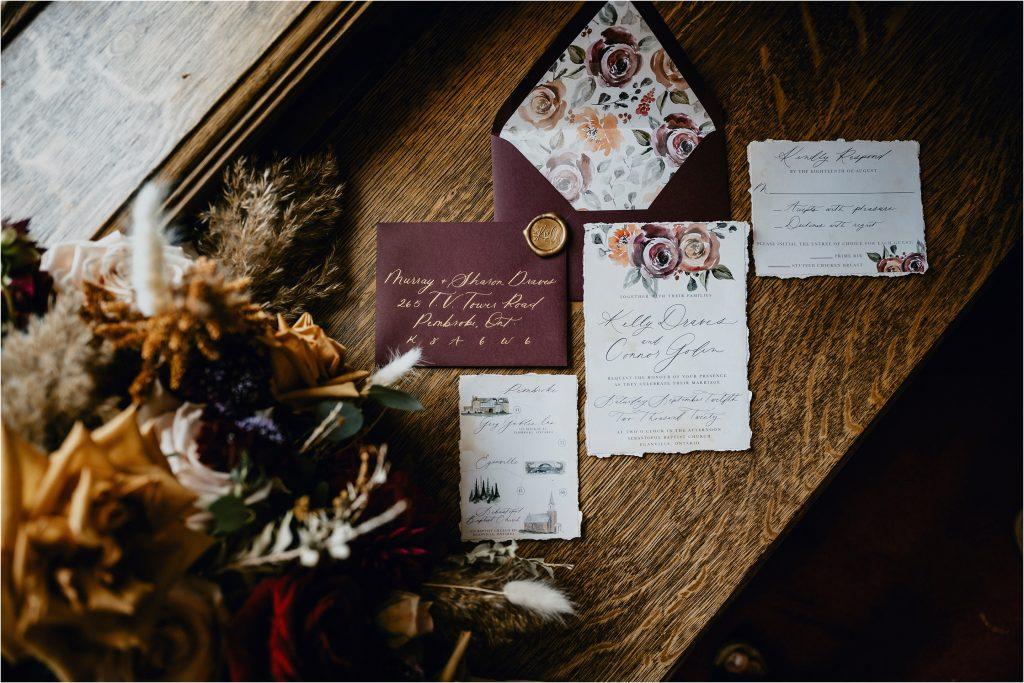Wedding Invitation Suite by Emma Allen Design Studio