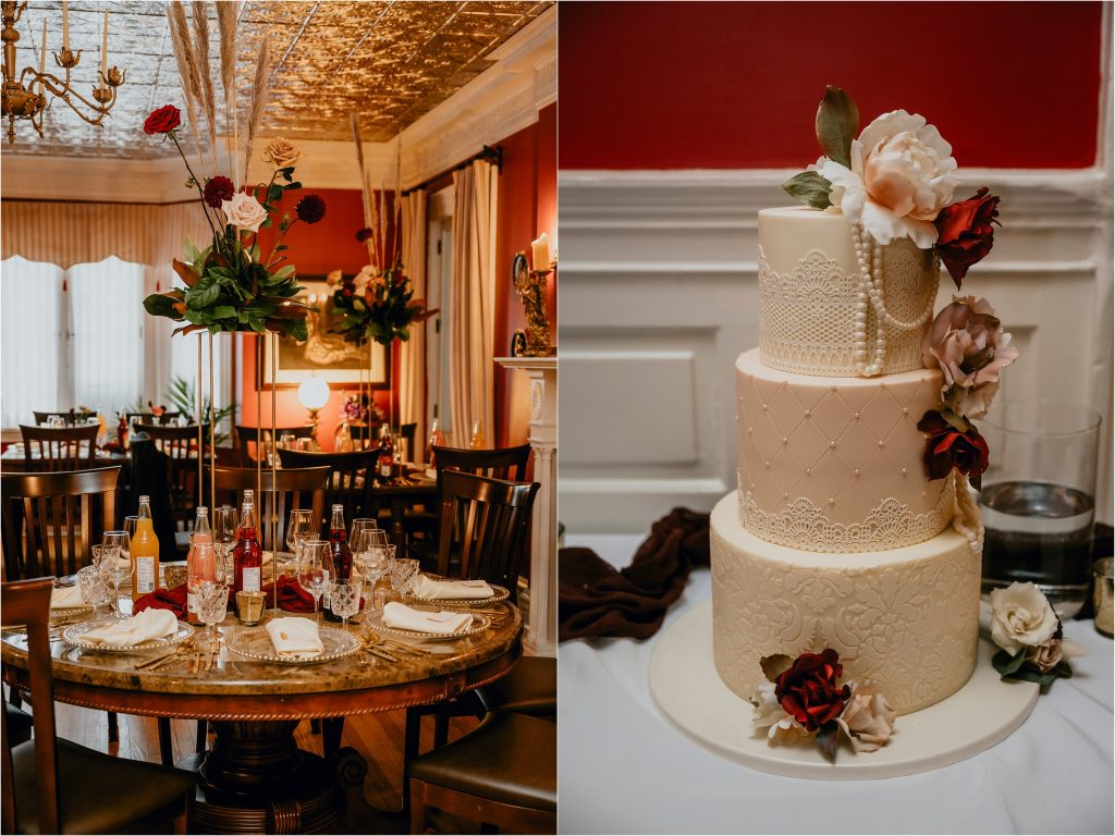 The Girl with the most cake Ottawa Wedding Cake at Grey Gables Inn in Pmebroke