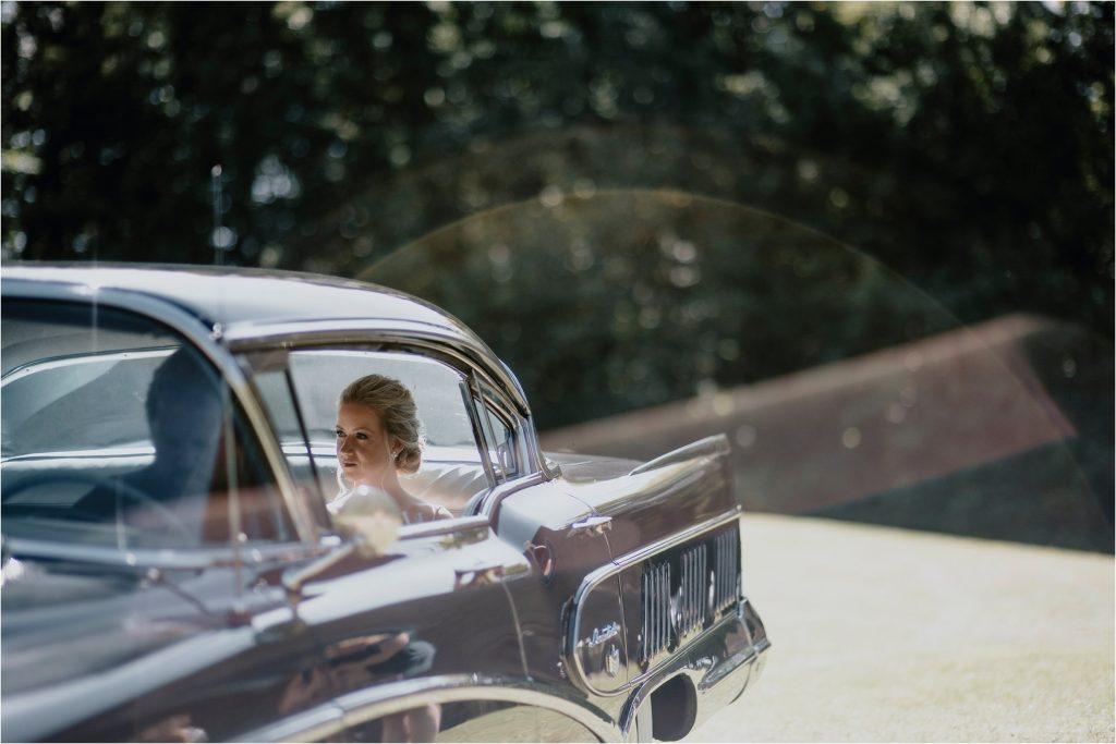 Bride arriving at church in Eganville