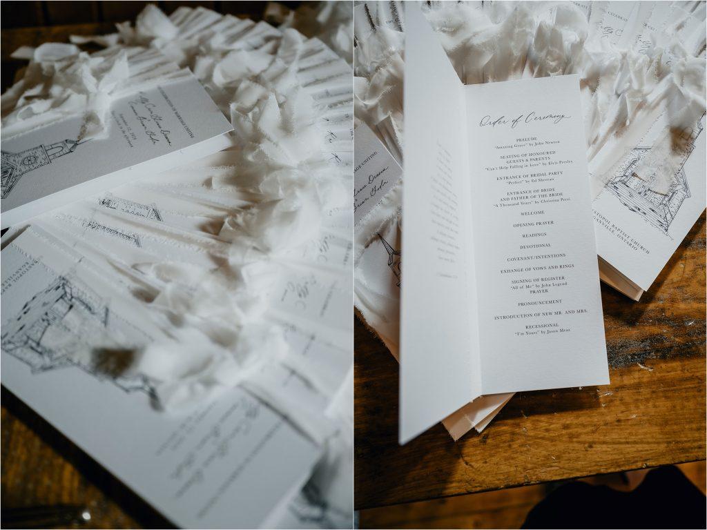 Custom wedding stationery by Emma Allen Design Studio