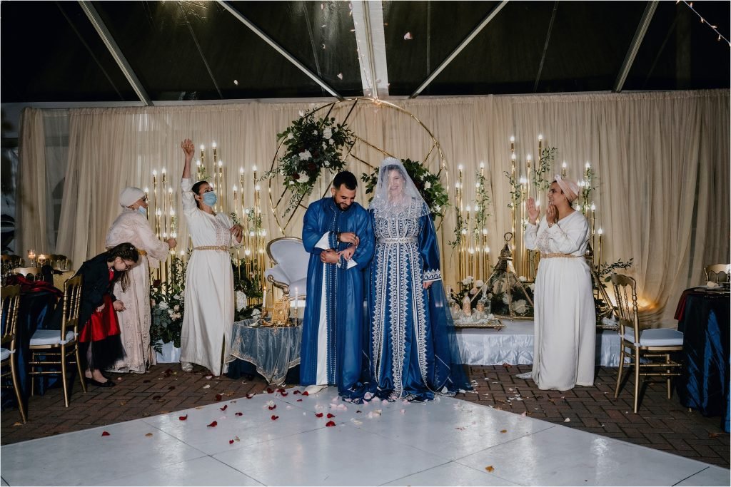 Bride and Groom celebrate their Canadian/Algerian Wedding at Orchard View in Greely