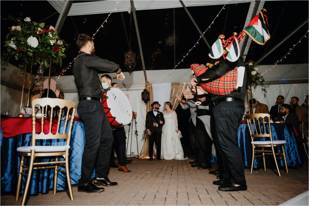 Algerian band plays for the bride and groom