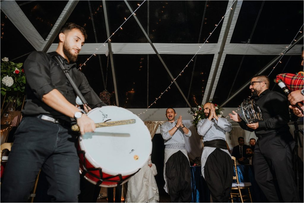 Algerian drummer and band play for the married couple