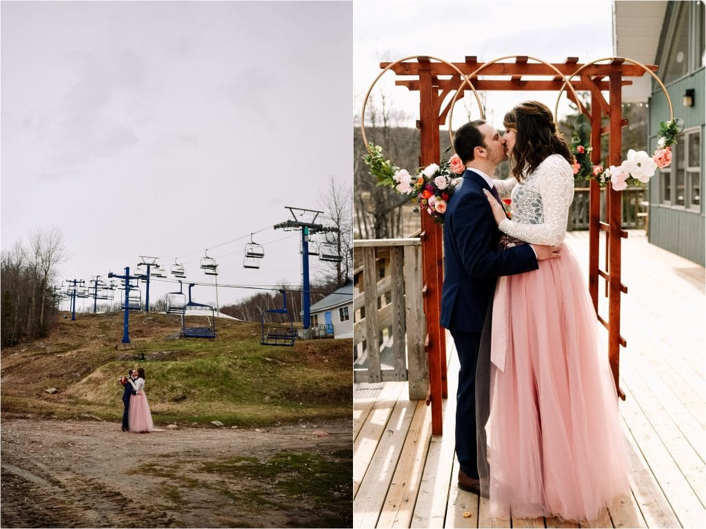 A Relaxed Spring Wedding at Camp Fortune Ski Resort